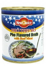 "New Choice 28 oz ""Pho"" Flavored Broth with Beef Meat"